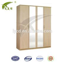 Steel 4 Door Glass Wardrobe/closet for bedrooms/godrej steel almirah