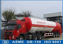 cryogenic liquid transportation semi- trailer