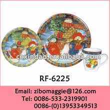 Hot Sale Kids Christmas Design Porcelain Dinnerware for Holiday Gift