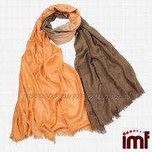 men's fine solid winter wear wool ombre shawl