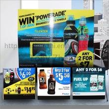 pp reciclado de plástico corrugado de refrescos del cartel con impresión a todo color