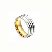 Curved pattern highpolished best gift stainless steel latest design ladies rings new design ladies finger ring for ladies LR7400