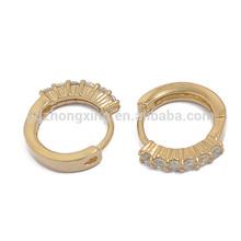 New Design Fashion Gold Jewelry Zircon Earrings