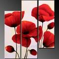 main décoratifs encadrée peintures acryliques coquelicots