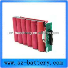 Good performance 7.4v 6600mAh li ion battery pack for power tools