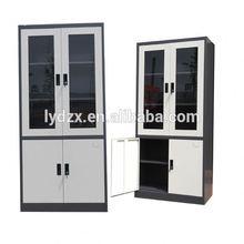 Modern Office glass swing door plastic file cabinet