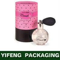 eco-friendly folding standard cardboard pink custom printed perfume box