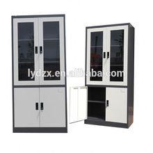 Modern Office glass swing door 3 drawer metal file cabinet