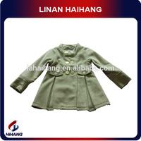 Woolen winter girls coat and dress set