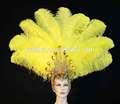 samba de samba trajes vestidos de plumas de avestruz