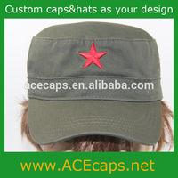 Custom 100 cotton brand military cap