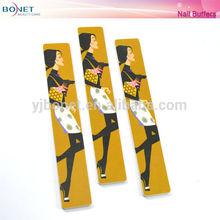 BNF0131 Long Yellow Fashion Girl Nail File