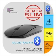 Ultra Slim Bluetooth Mouse FTM-W18B Optical Bluetooth Mouse Manufacturer