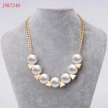 fashion jewelry accessories unique pearl and triangle choker neclace