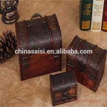 unique design old wooden box wholesale hot sale