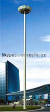 galvanized steel base posts Solar LED Fence octagonal street lamp pole galvanized 12m steel pole