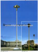 galvanized steel base posts Solar LED Fence octagonal street lamp 8 poles connector
