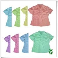 2015 Spring colors cute girls short sleeves design UPF shirt