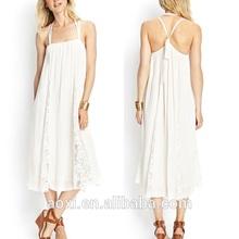 OEM Custom-made China supplier fat women formal dresses middle aged women fashion dress midi loose dress cotton fabric