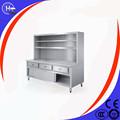 precio barato supermercado equipo de cocina de un restaurante de la esquina con mesas de almacenamiento