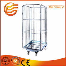 4-sides Laundry warehouse foldable steel roll container