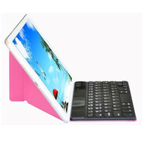 New Removable Bluetooth Keyboard + Hybrid Leather Skin Case Cover For iPad Mini