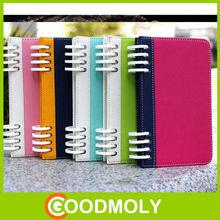Notebook flip plastic hard phone skin case for galaxy s4 i9500
