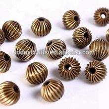 10mm in diameter hole: 1.5mm antique brass antique bronze brass melon round beads
