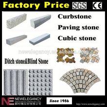 China manufacture lowest price black basalt flamed running bond paving stone