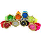 2014 new stylish geneva silicone watch geneva quartz watch jelly diamond watch