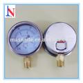 Uso Industrial fuelle indicador de presión con doble dial palte psi y kg