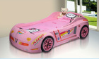 Hot Sale PINK kids car shape bed , child car shape bed