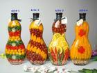 Popular kitchen decoration glass bottles peppers