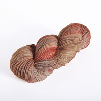 2014 Best selling fancy wool blended nylon yarn in hank with space dyed pattern 12th