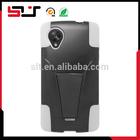 Black white hybrid skin silicone hard soft cover for lg nexus 5 case
