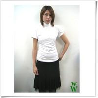 Women Knit Plain Short Sleeve Turtleneck Dress for 2015
