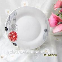 ceramic dinner plates used in wedding ,bulk dinner plates for restaurant,cheap hotel used dinner plates