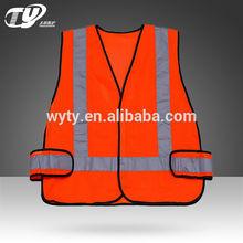 fluorescent orange traffic safety vest high visibility safety vest