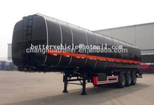 CCC, ISO9001, BV, GSMO , SASO / 36m3 tri-axle carbon steel trailer/ Crude oil/diesel/gasoline/petrol tank semi trailer