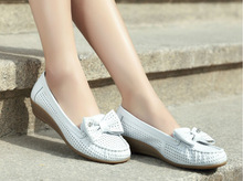 High quality white PU nurse shoes nice womens soft rubber sole casual shoes low heel wedge shoes for women
