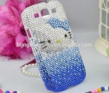 45 colors Wholesale Fashion 3D Kitty diamante cellphone skin cute cellphone faceplate