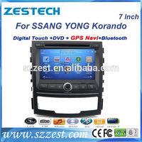 ZESTECH OEM DVD Factory 7 inch HD Touch Screen Car DVD GPS for SSANG YONG Korando car radio GPS autoradio audio navigation