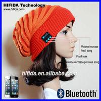 2014 hot selling Acrylic Custom headphone bluetooth beanie caps