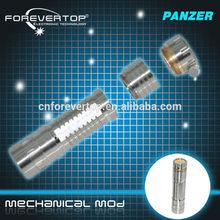 Hot selling high quality panzer mech mod stainless steel panzer mod clone black telescope 18650 battery vv mod vaporizer pen