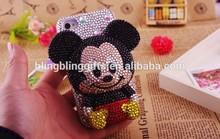 45 colors Wholesale Fashion 3D Donald crystal cellphone faceplate cute cellphone case