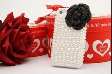 45 colors Wholesale Fashion 3D Rabbit beaded cellphone faceplate cute cellphone case