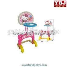 pink hello kitty with football door plastic basketball hoop