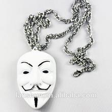 Marvel Hacker V Mark Logo White Necklace Accessories Cosplay