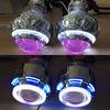 9005 9006 H1 H4 H7 Bi Xenon Projector Lens light , Dual Angel Eyes (LED+CCFL)