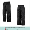 Black Color Waterproof Nylon Men Sports Long Pants With Lining